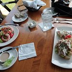 green of fields w/shimp and lobster roll lunches