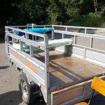 подвозка для тех, кому сложно поднятся от озера наверх