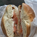 12-08-17 Bagel & Lox Sandwich Special, with coffee: $4.79.