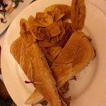 sandwich cubano con contorno di platano fritto