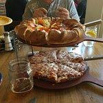 Mountain pie on top; prairie pie on bottom.