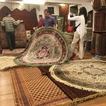A friend buying carpets