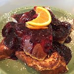 French toast with marionberry-apple compote