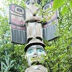 Eagle boy totem in Potlatch totem park