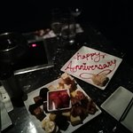 Chocolate Fondu and Anniversary Message