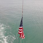 the flag on the cruise ship..