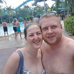 A quick selfie before hitting the lazy river