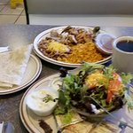 Chicken fajitas..$12 for whole meal w coffee, great food great price