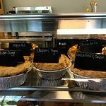 Vegetarian and Chicken pot pies