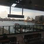 The harbour, seen from the train at Circular Quay