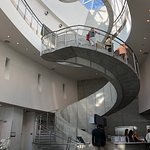 Remarkably fun spiral staircase at Dali Museum