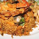 arroz con mariscos de la casa