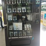 Souvenirs in a vending machine