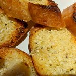 Garlic bread- full of minced garlic- GOOD!