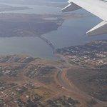 Foto da Ponte JK tirada do Avião....