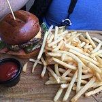 Hoochie Mamma Burger and Crispy yummy fries