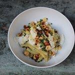 salade de haricots beurres, vinaigrette noisette