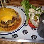 Double RD burger (no bun) and slaw