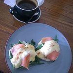 Salmon Benedict with Soul Coffee