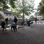 Playing open air chess in Lindenhoff park