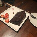 Wall of chocolate cake