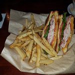 Club Sandwich with Fries $8.29 Very good..