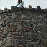 Nikki at top of Mount Battie tower
