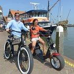 biking around in Volendam :-))