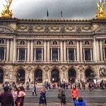Filming outside Paris Garnier