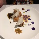 Scallops with pollen