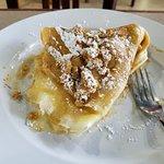 Desert crepe - banana, honey, granola, peanut butter