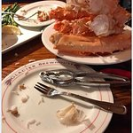 King crab legs... nothing left on the plate.