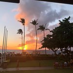View from our table after convincing the waitstaff some of us like to see the sunset!!