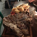 Super tuscani Fiorentina steak for 2 with veg €80.00 1.2kg of the best meat EVER!