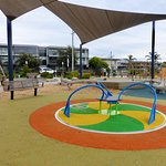 New surfaces laid for 5he safety of this well maintained playground.
