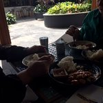 Pleasant Outside Eating Area