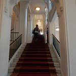 entrance staircase leatding to thematic exhibitions area