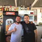 Owner Nikos and barman Georgos
