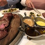 chateaubriand steak with three sauces