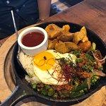 Yummy spicy dish for breakfast !