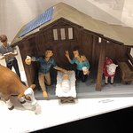 The disrespectful manger scene that someone working in or for this oratory made.