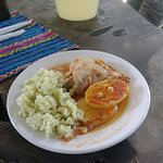 Delicious lunch made by don Manuel's wife