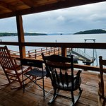 The covered deck makes you feel like you are floating on the ocean.