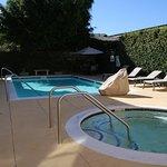 Nice pool relaxing area