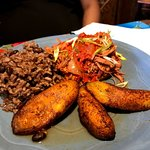 picadillo and fried sweet plantains