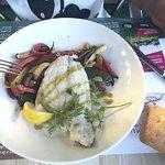 Filet de dorade à la plancha à l'huile d'olive et légumes du soleil