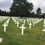 ノルマンディー米軍戦没者墓地の写真