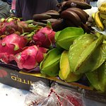 Dragon fruit and star fruit