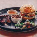 A Filling Plate of Gourmet Organic Chicken Burger
