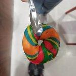 My first rainbow bagel :)